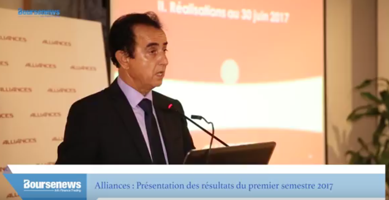 Ahmed Ammor commente les réalisations d'Alliances au premier semestre 2017
