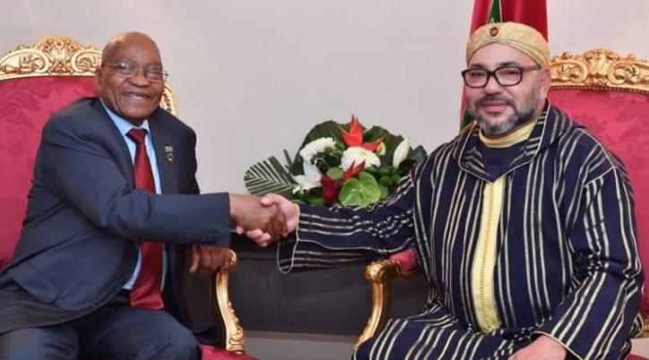 Le Roi Mohammed VI reçoit Jacob Zuma à Abidjan
