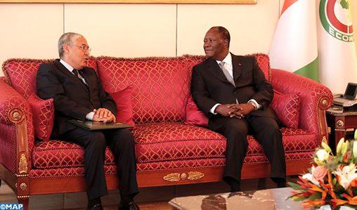 Le PDG d'Attijariwafa bank reçu en audience par le président ivoirien