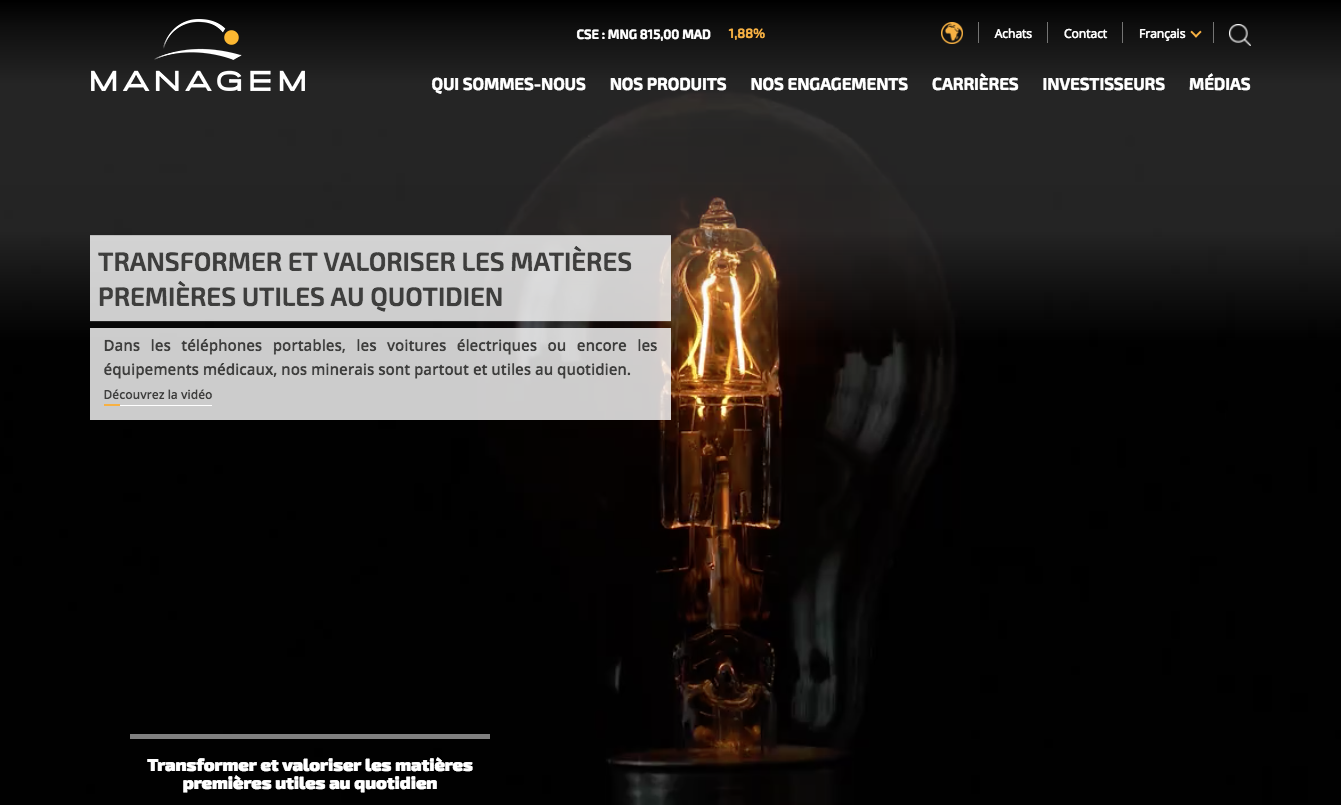 Managem lance un nouveau site web corporate