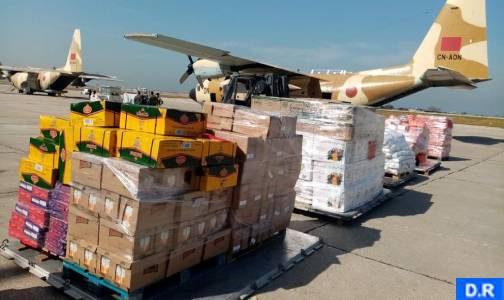Arrivée à Beyrouth du premier lot des aides alimentaires envoyées par le Maroc
