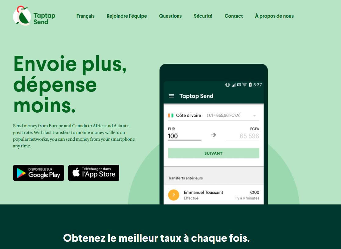 Transferts d'argent: TAPTAP SEND lance ses services au profit des MRE